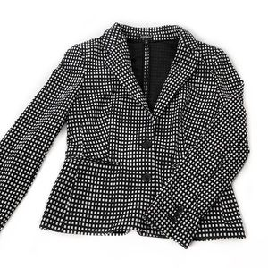 Express • Grid Printed Stretch Blazer